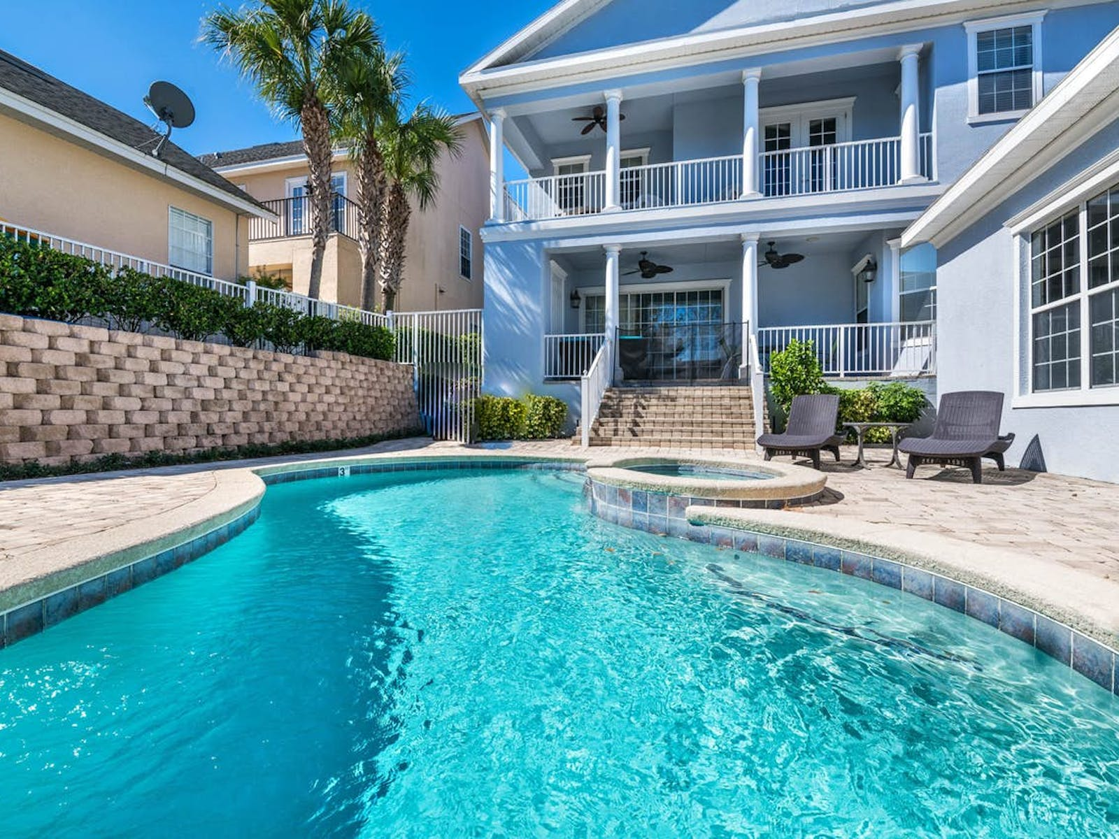 outdoor pool in Kissimmee, FL vacation rental home