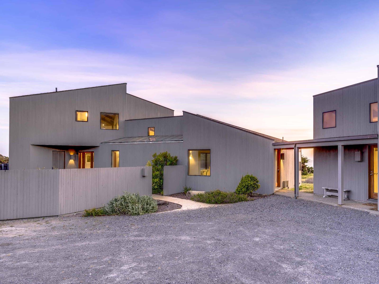 a beach house in Sea Ranch, CA with unique architecture