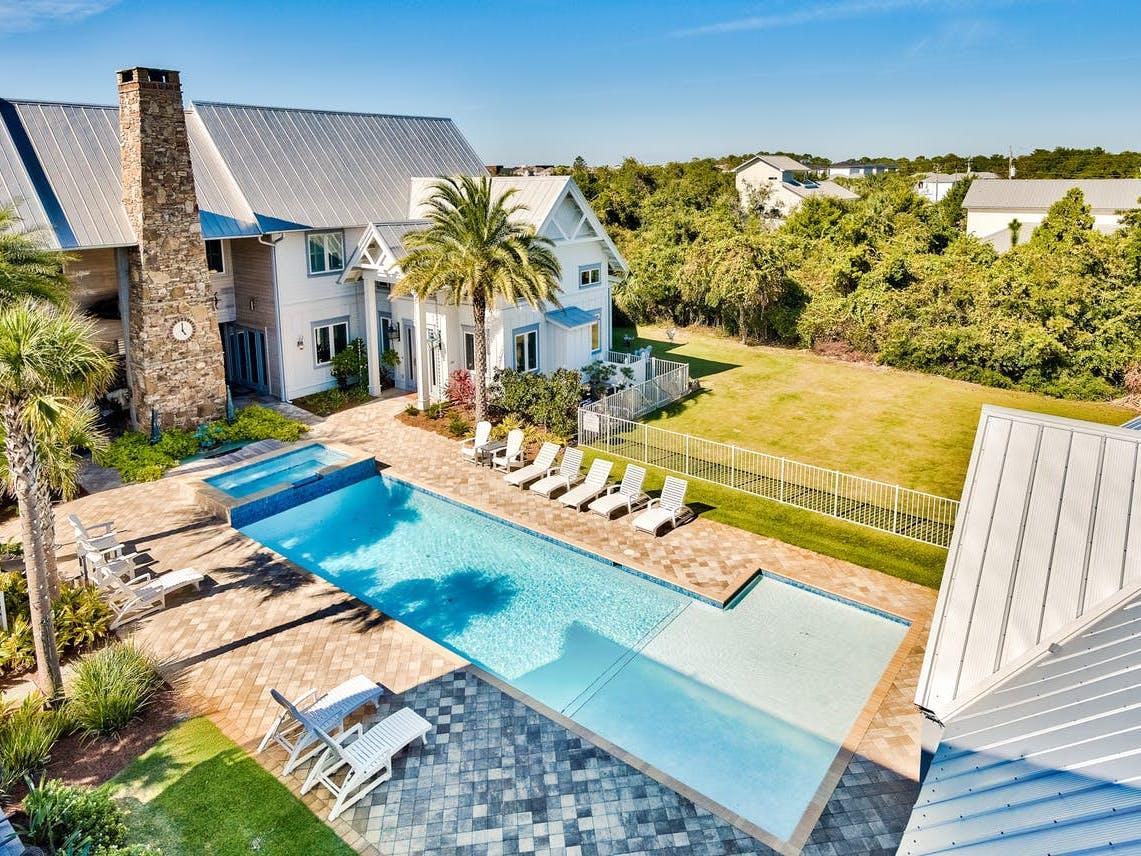 Miramar Beach, FL exterior pool of event home rental