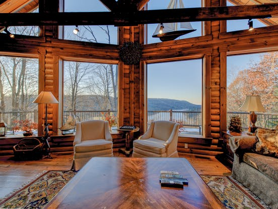 deep creek lake cabin with lake views