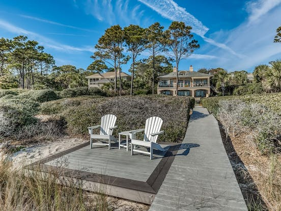 hilton head island beachfront vacation rental that allows dogs