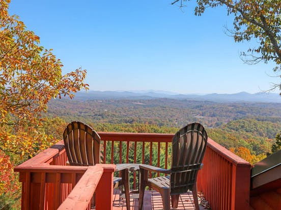 Deck with view of Georgia fall foliage