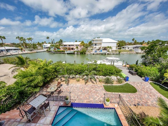 Waterfront vacation rental in Marathon, FL with boat dock