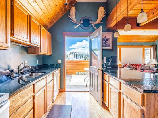 kitchen of big sky, mt vacation rental