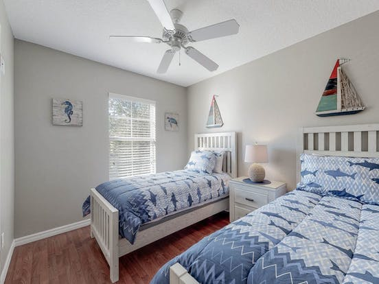 Bedroom with nautical decor in Kissimmee, Florida