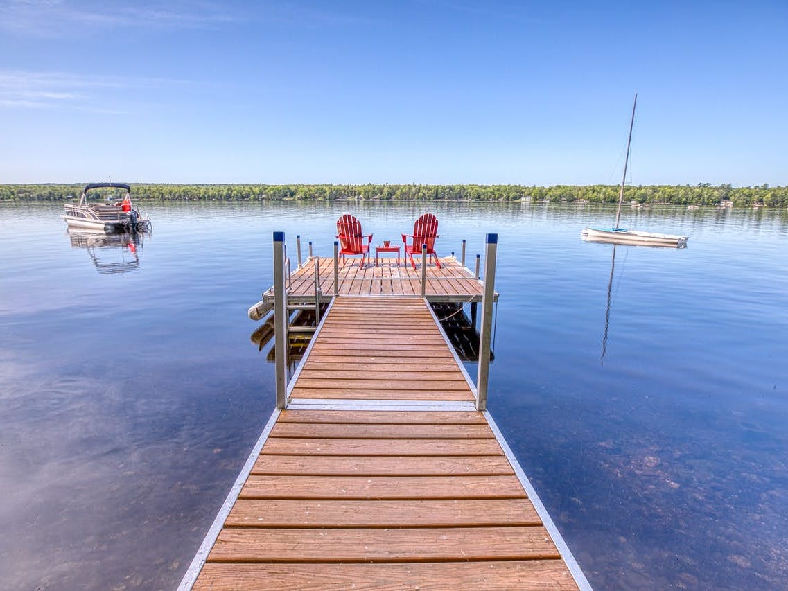 boat dock in Orland, ME