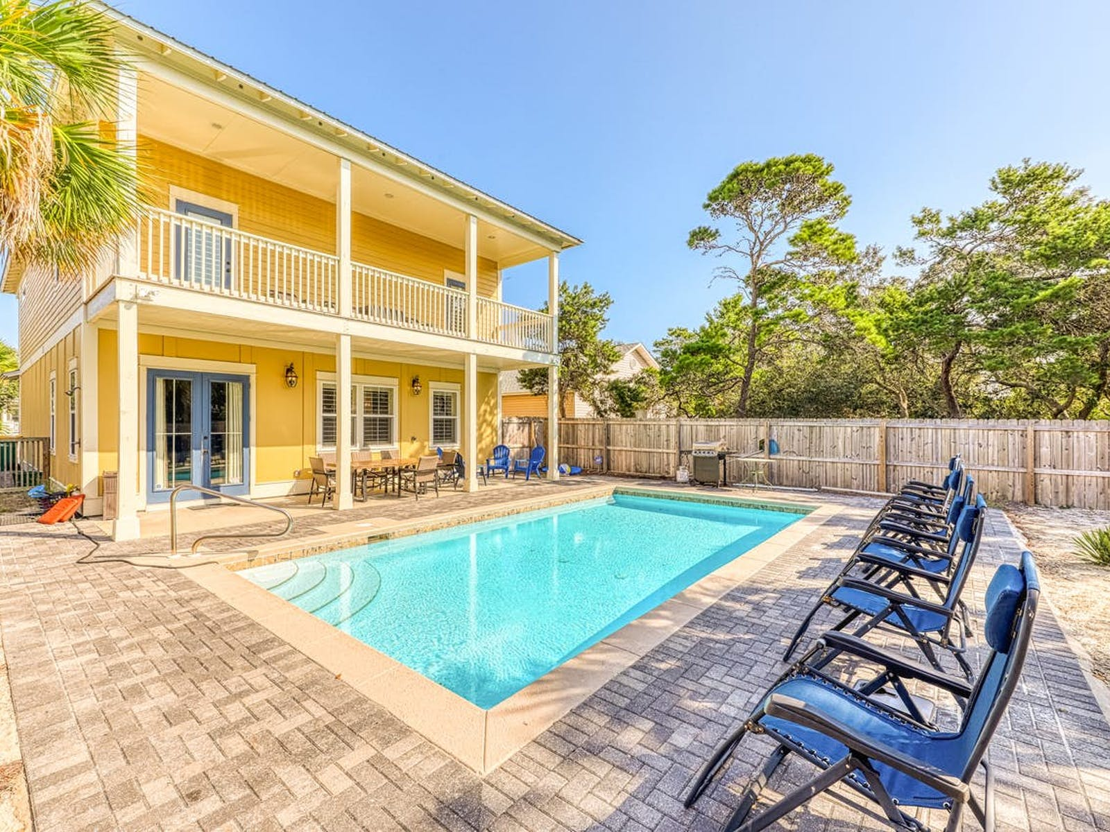 Yellow vacation home in Destin, FL with private outdoor pool