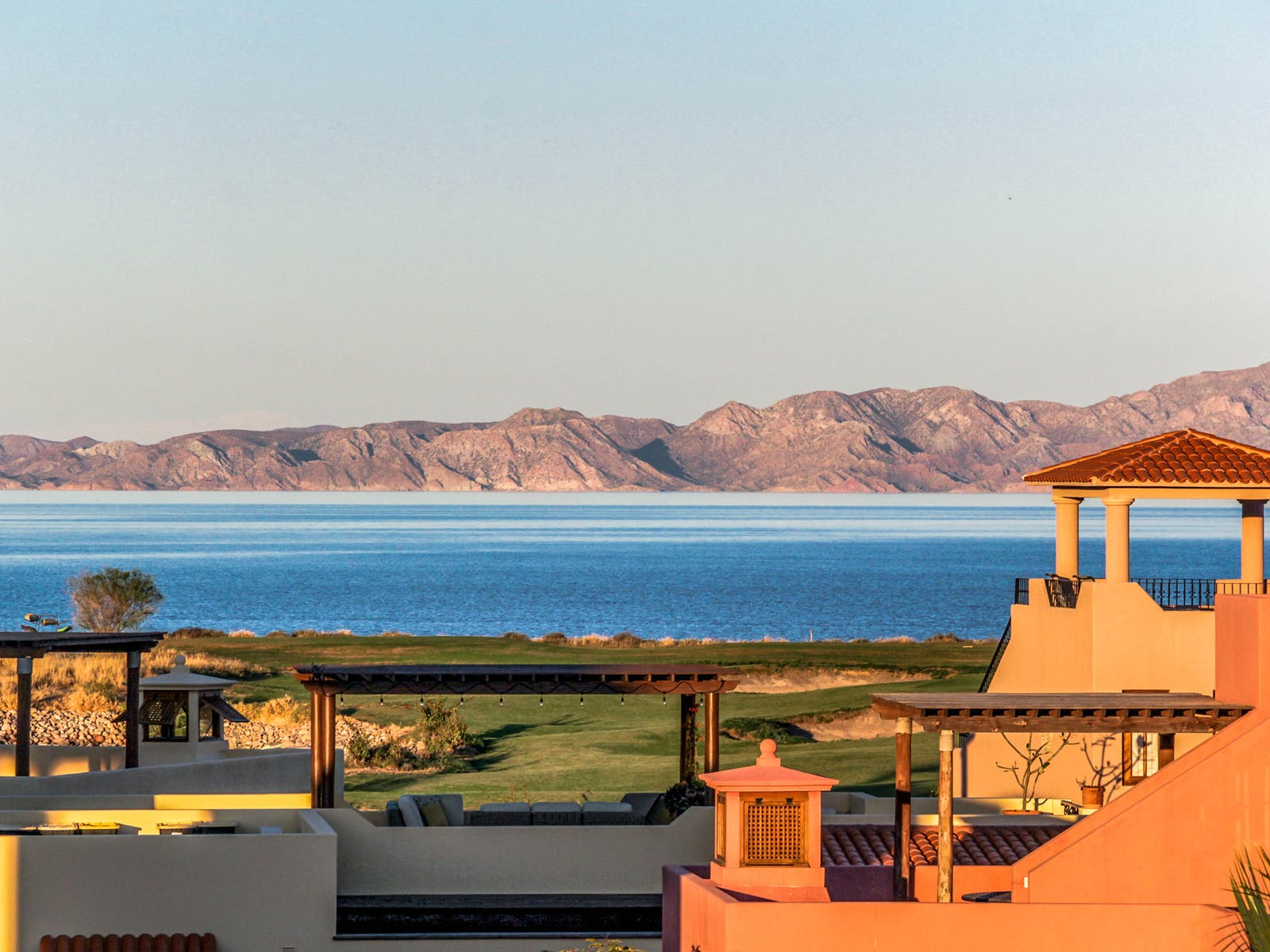 View of golf course from Mexico vacation rental