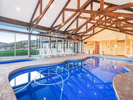 Indoor pool located in Utah vacation rental