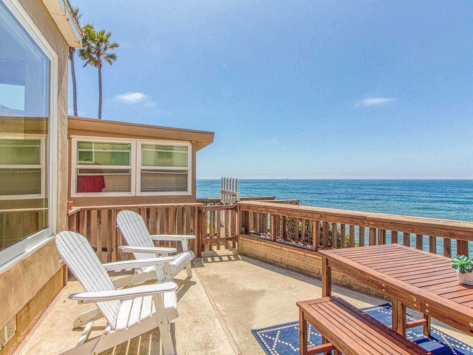 oceanfront San Diego, CA vacation home with large deck overlooking ocean