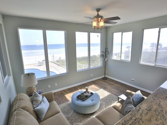Living area of Daytona vacation rental