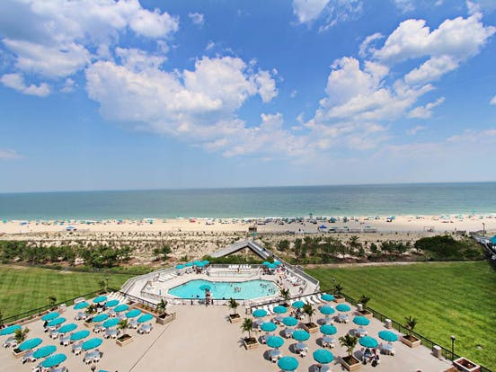 beachfront resort pool in Bethany Beach, DE
