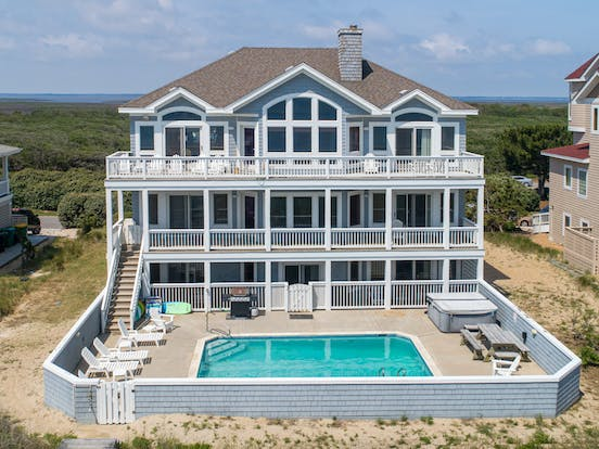 three story beach house with private pool in the outer banks