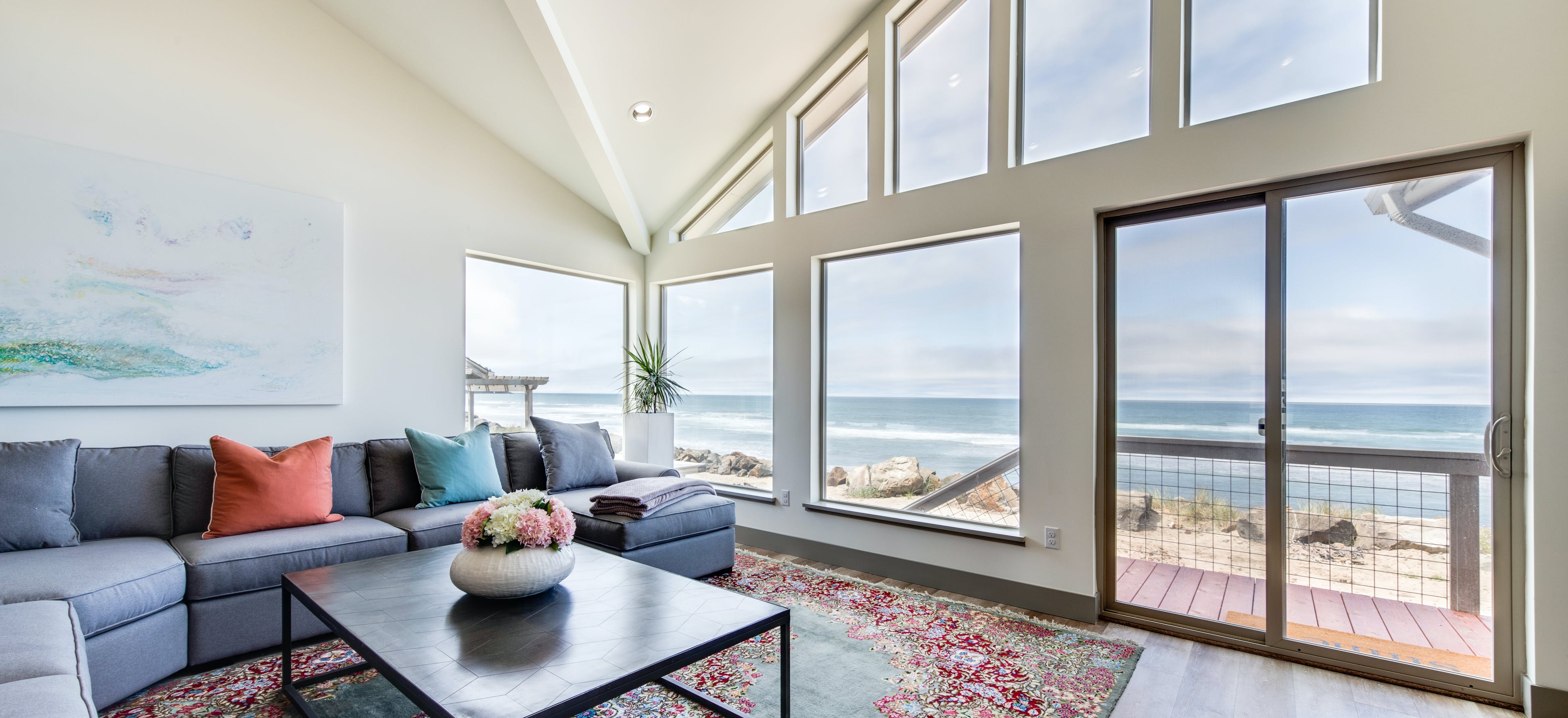 bright and open beach house on the oregon coast