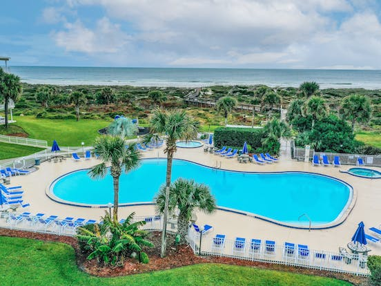 beachfront resort pool in St. Augustine, fl