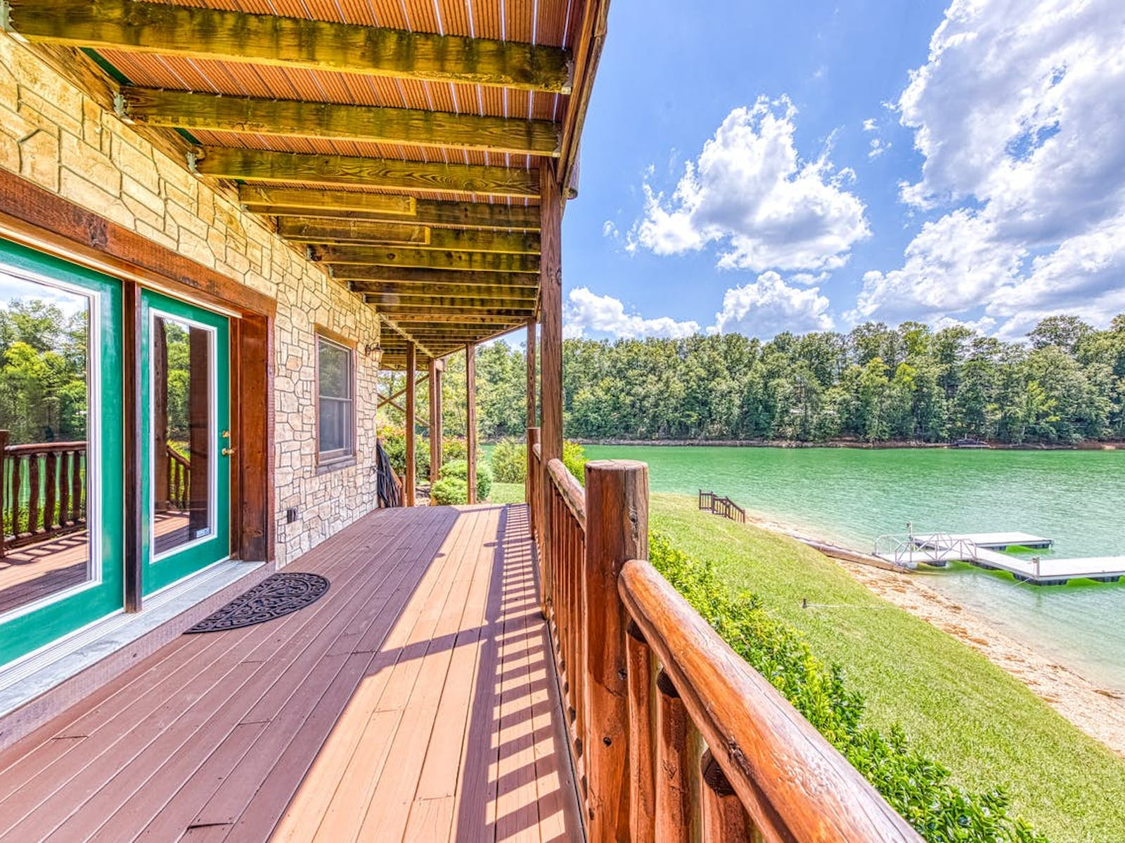 sevierville, tn waterfront vacation cabin with dock