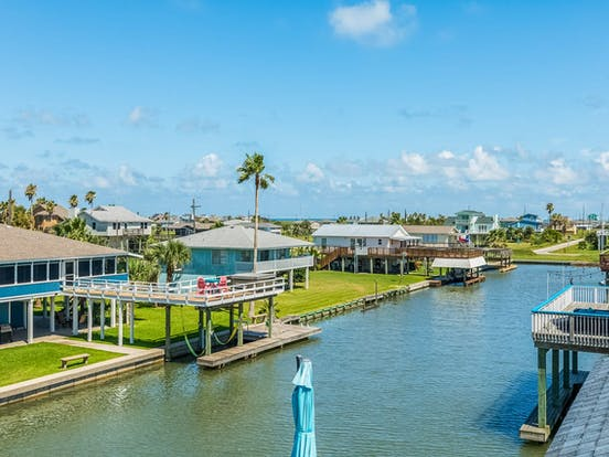 View of waterfront vacation rentals