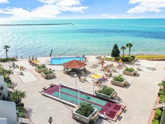 beachfront resort with oceanfront pool along the Florida Gulf Coast