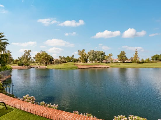 Pond located in a Chandler, AZ golf course