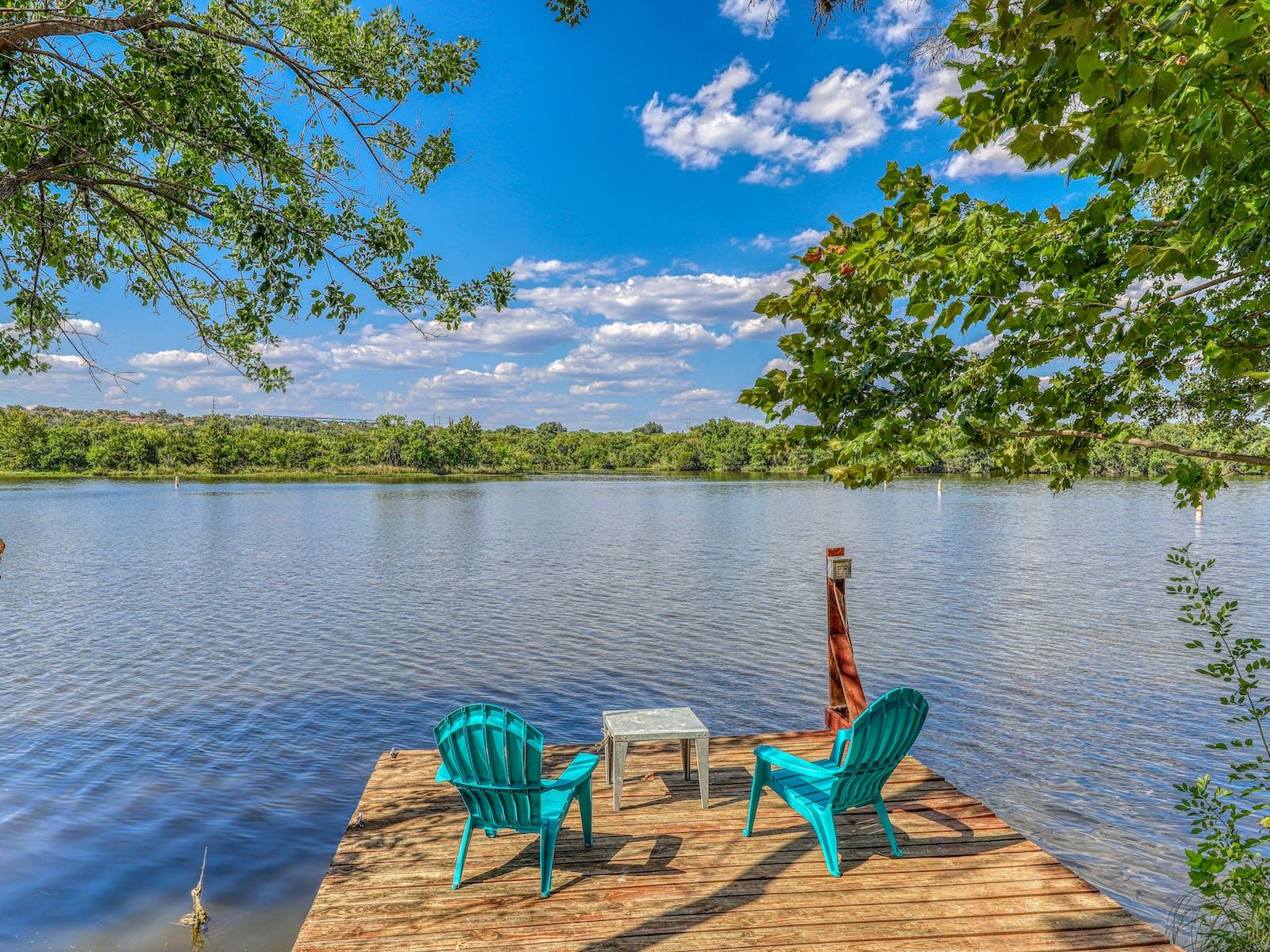Vacation rental dock in Texas