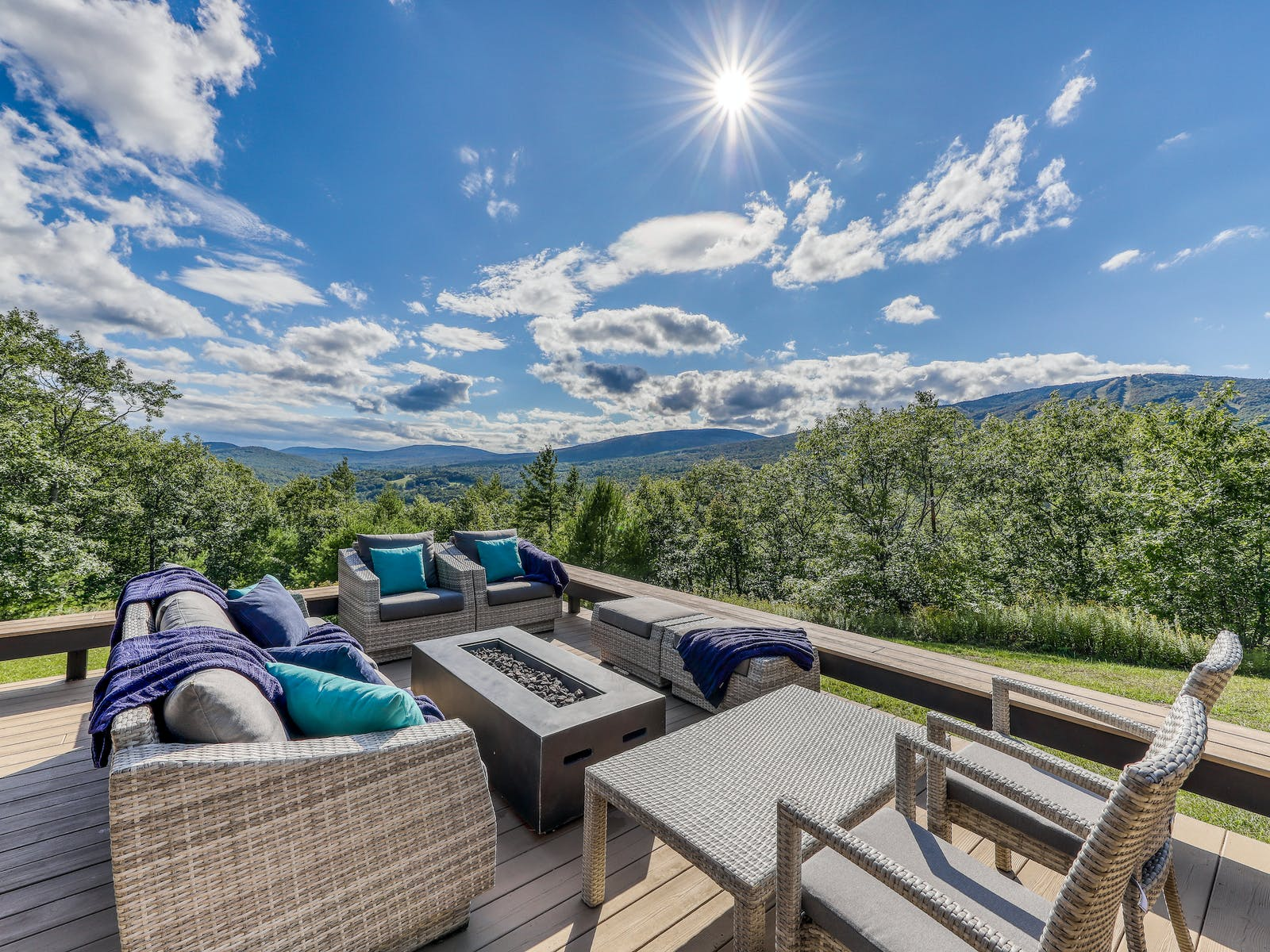 deck of Ludlow, VT vacation rental with amazing views