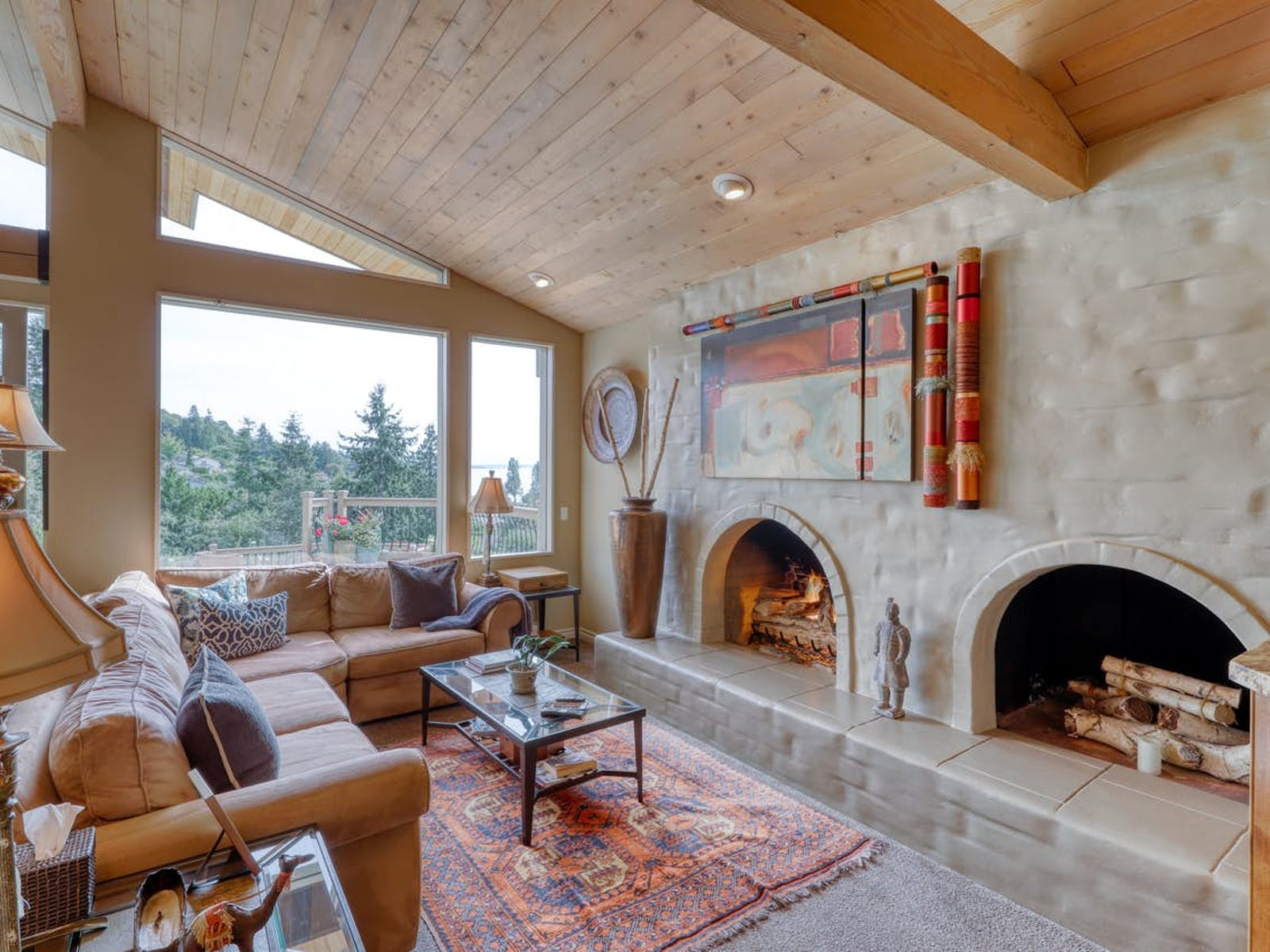 double fireplace in Shoreline, WA