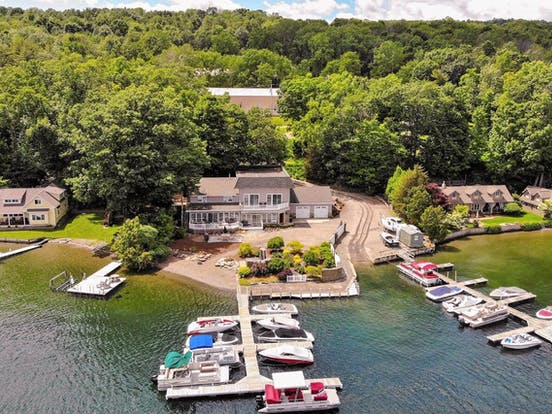 boats and docks on Finger Lakes