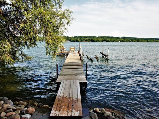 Dock of vacation rental on the shores of Finger Lakes