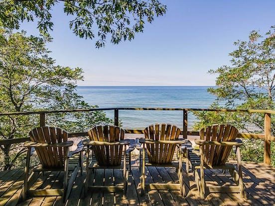 Vacation rental with views of Lake Michigan