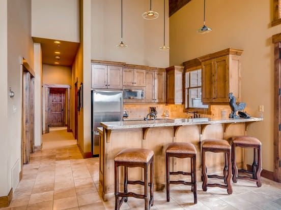 Kitchen in a ski-in/ski-out rental in Park City