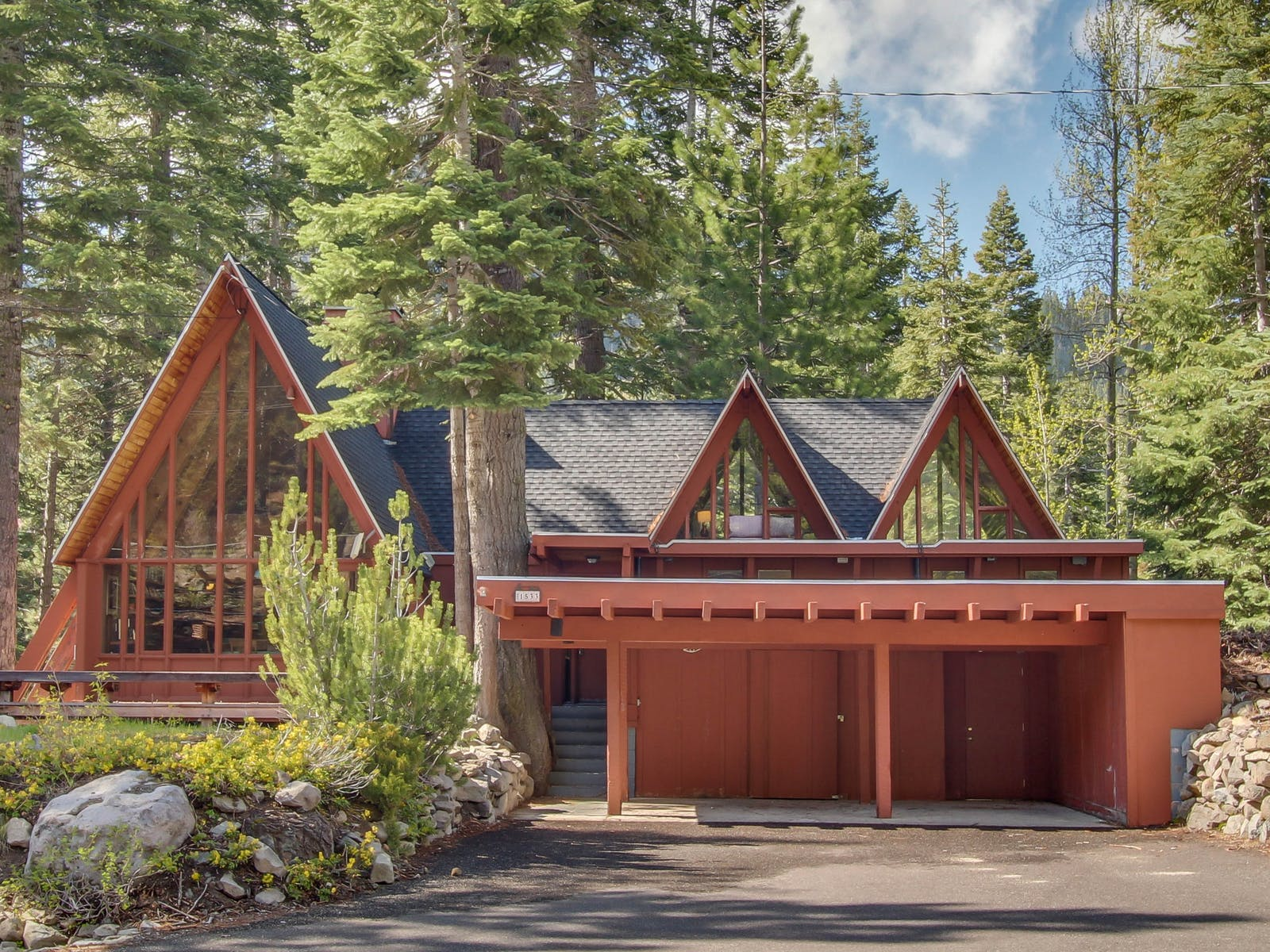 A-frame style cabin in North Lake Tahoe, CA