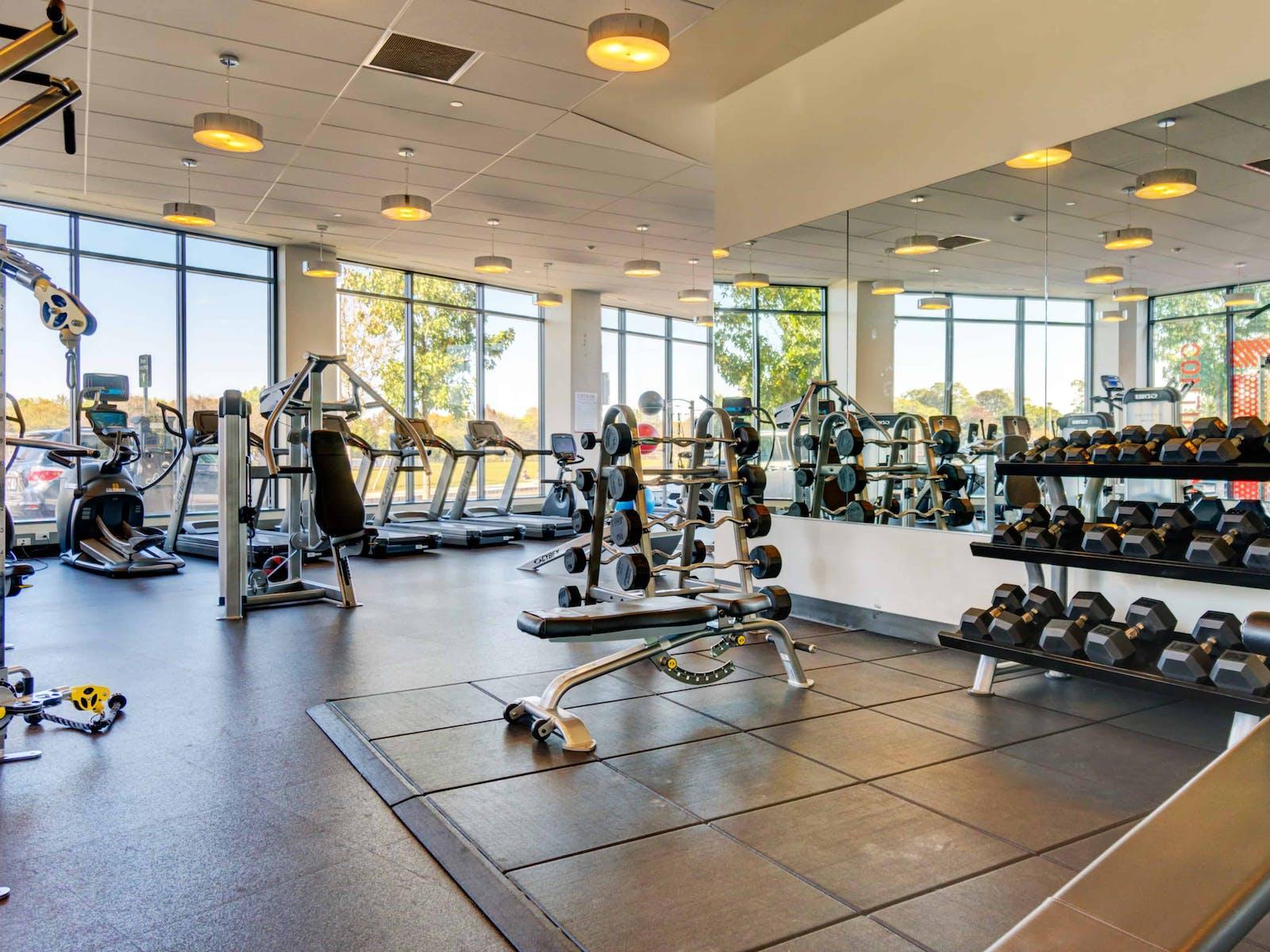 A modern gym at a community association
