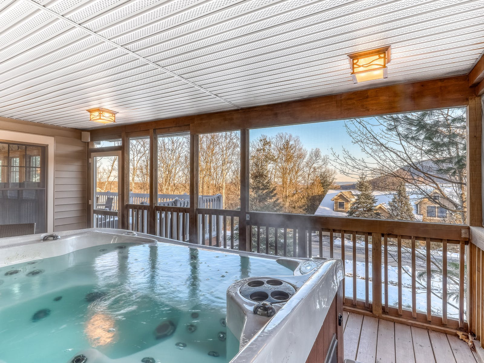 tannersville, pa vacation rental with outdoor hot tub