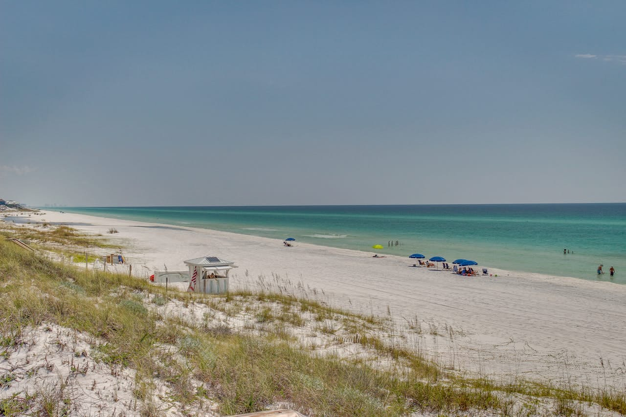 Beach located along the 30a in Florida