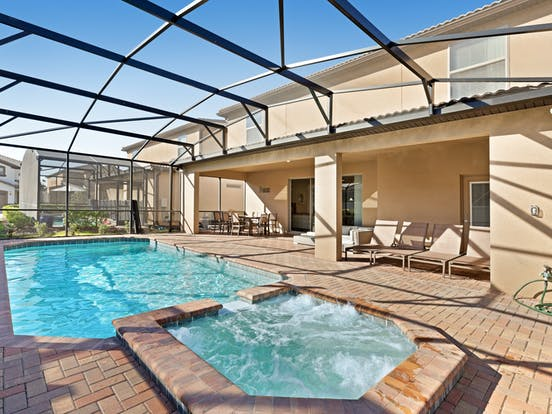 kissimmee, fl vacation home with private pool and hot tub