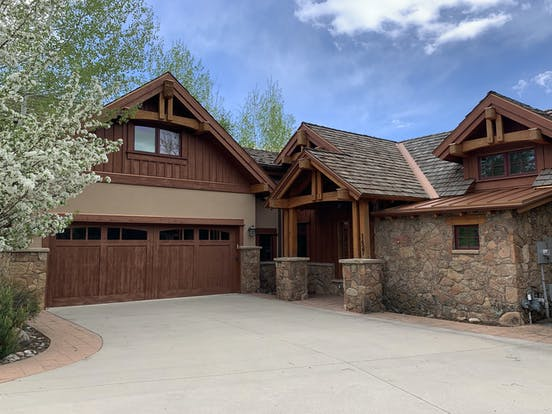two-story vacation home with two car garage in steamboat springs, co