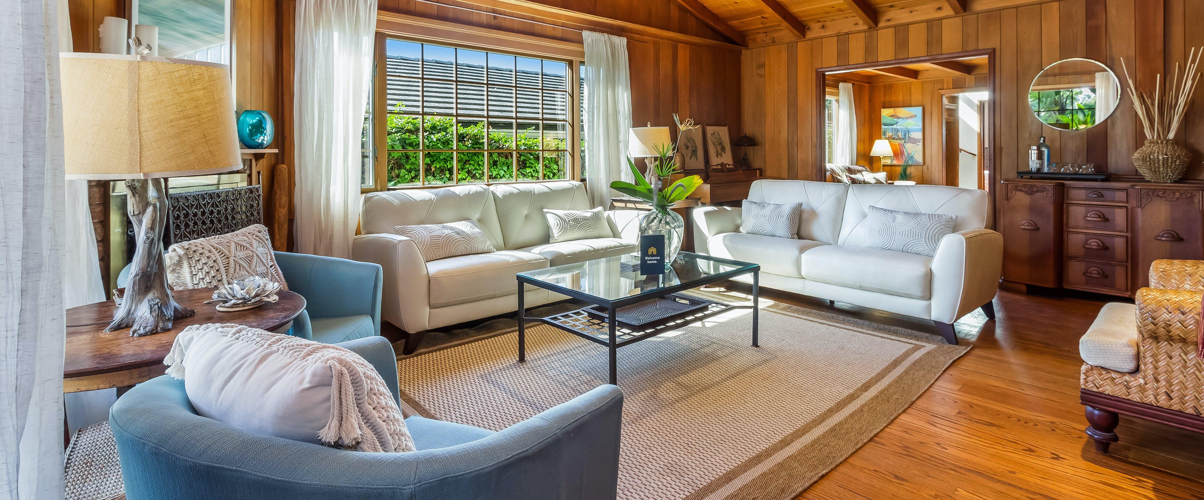 living room of Carlsbad, CA vacation cabin