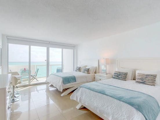 Vacation rental bedroom in Miami, FL