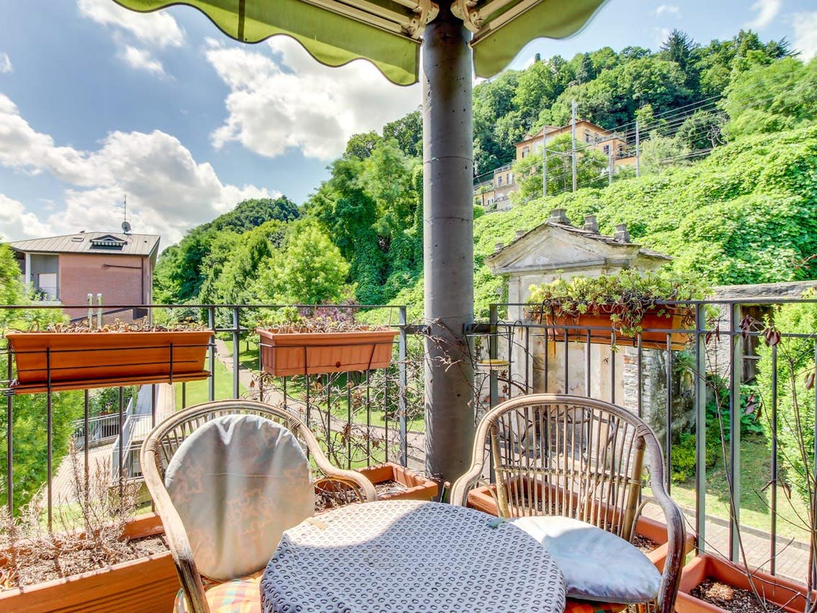 Balcony of Como, Italy vacation home