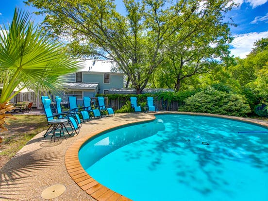 Fredericksburg, TX vacation home with outdoor pool and ample seating