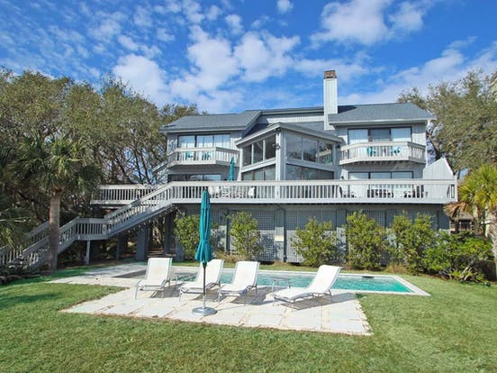 oceanfront vacation rental with pool on Hilton Head Island, SC