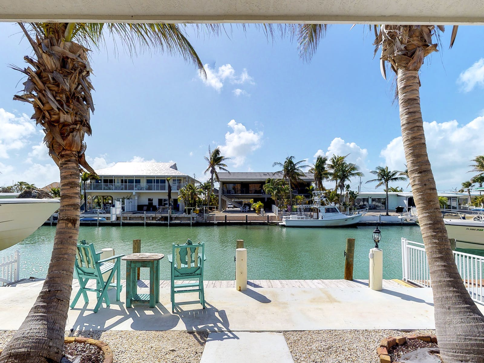 Vacation rental in the Florida Keys with a dock