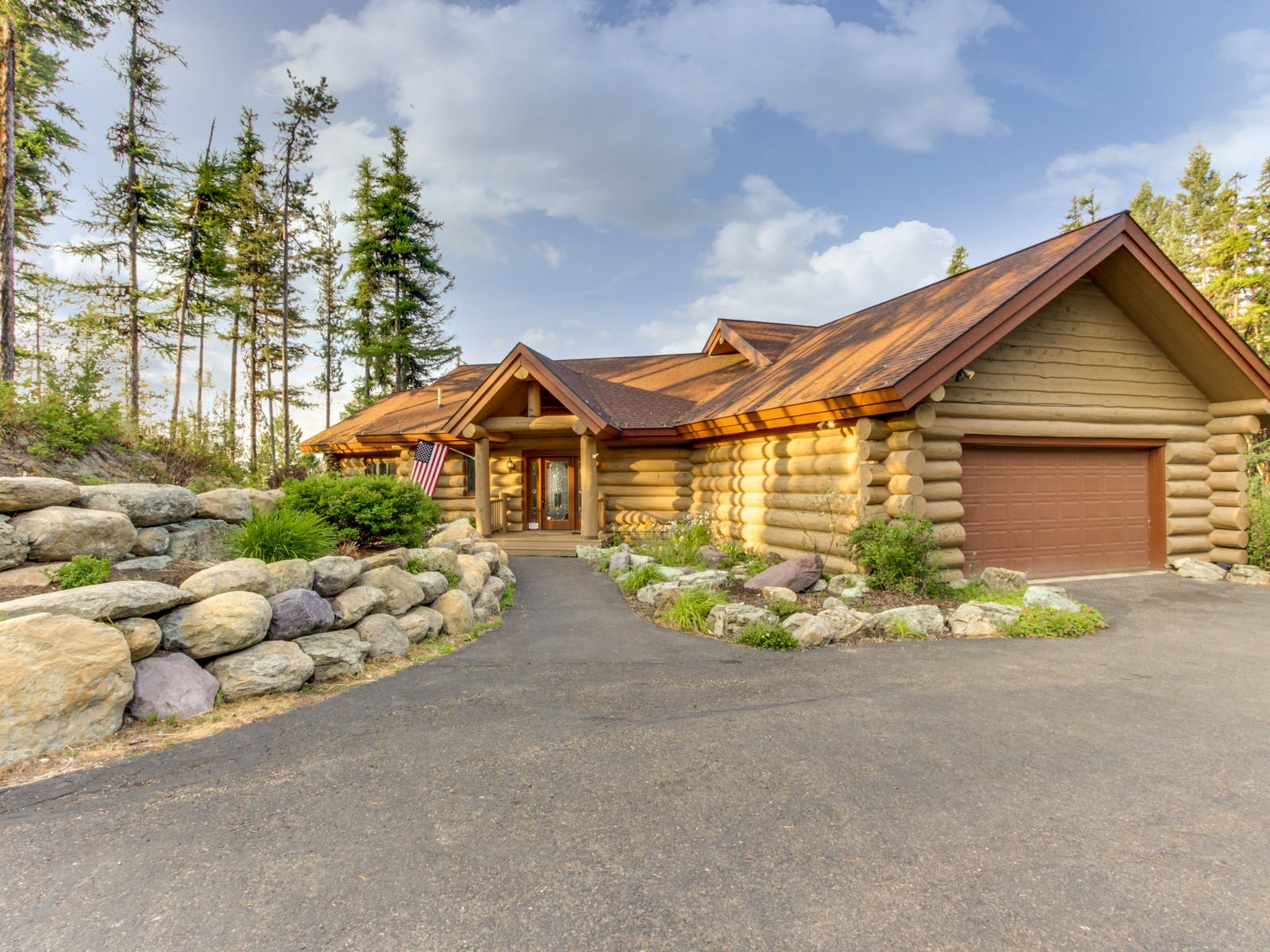 Glacier National Park log cabin