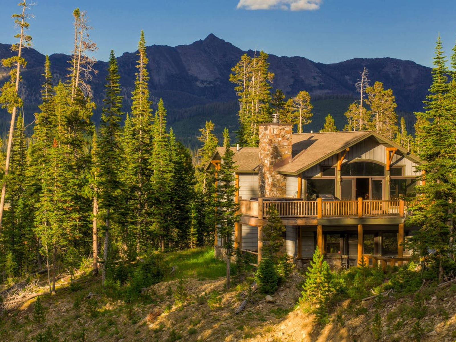 vacation home with mountain views in Big Sky, MT