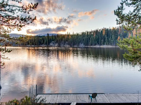 idabel lake cabin on the water with dock