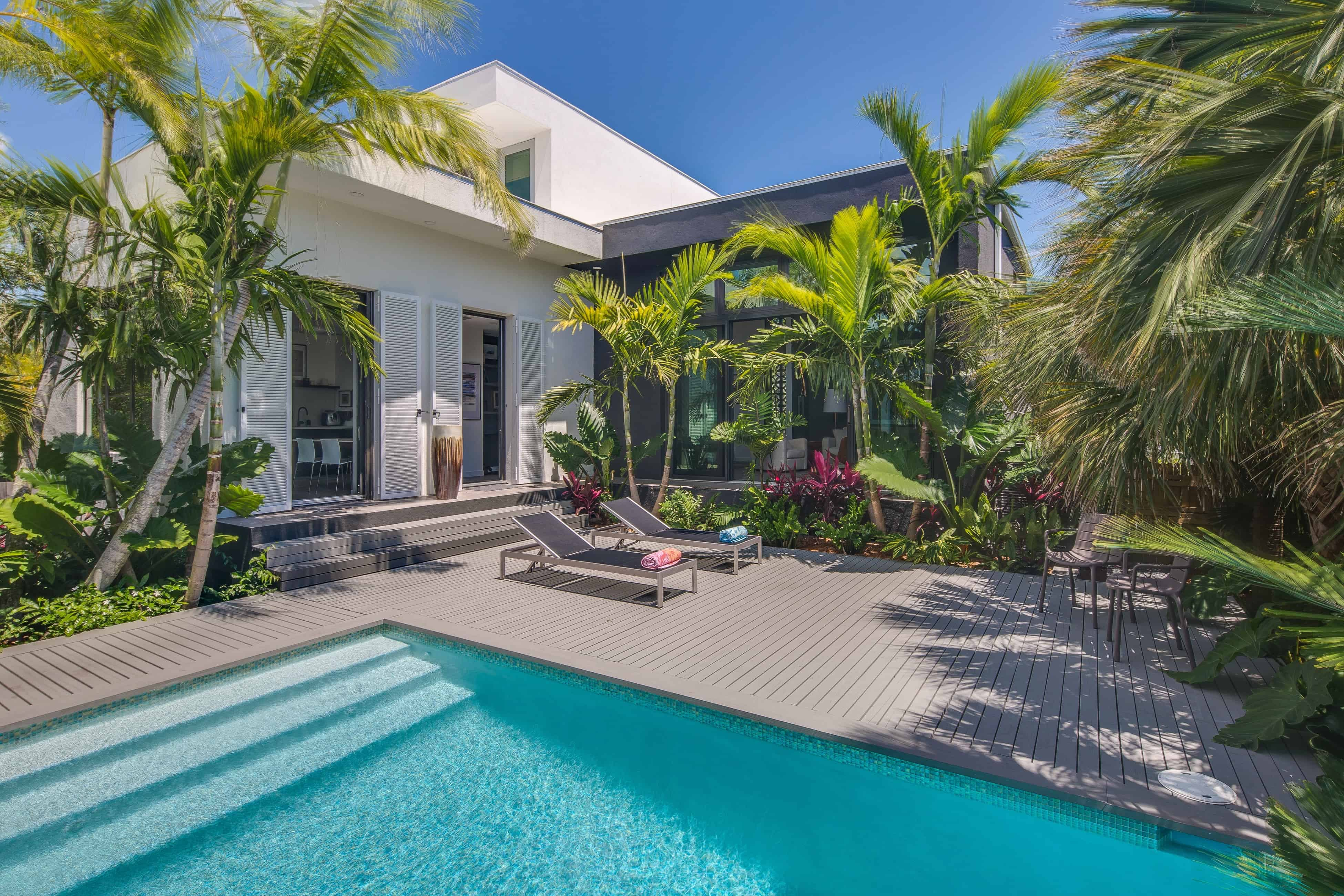 vacation rental with a pool in key west