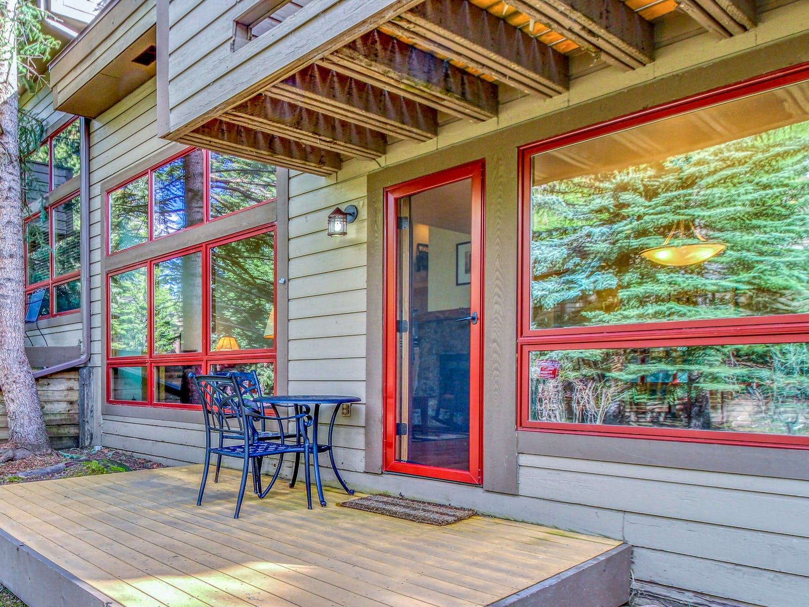 front porch of vail, co vacation home