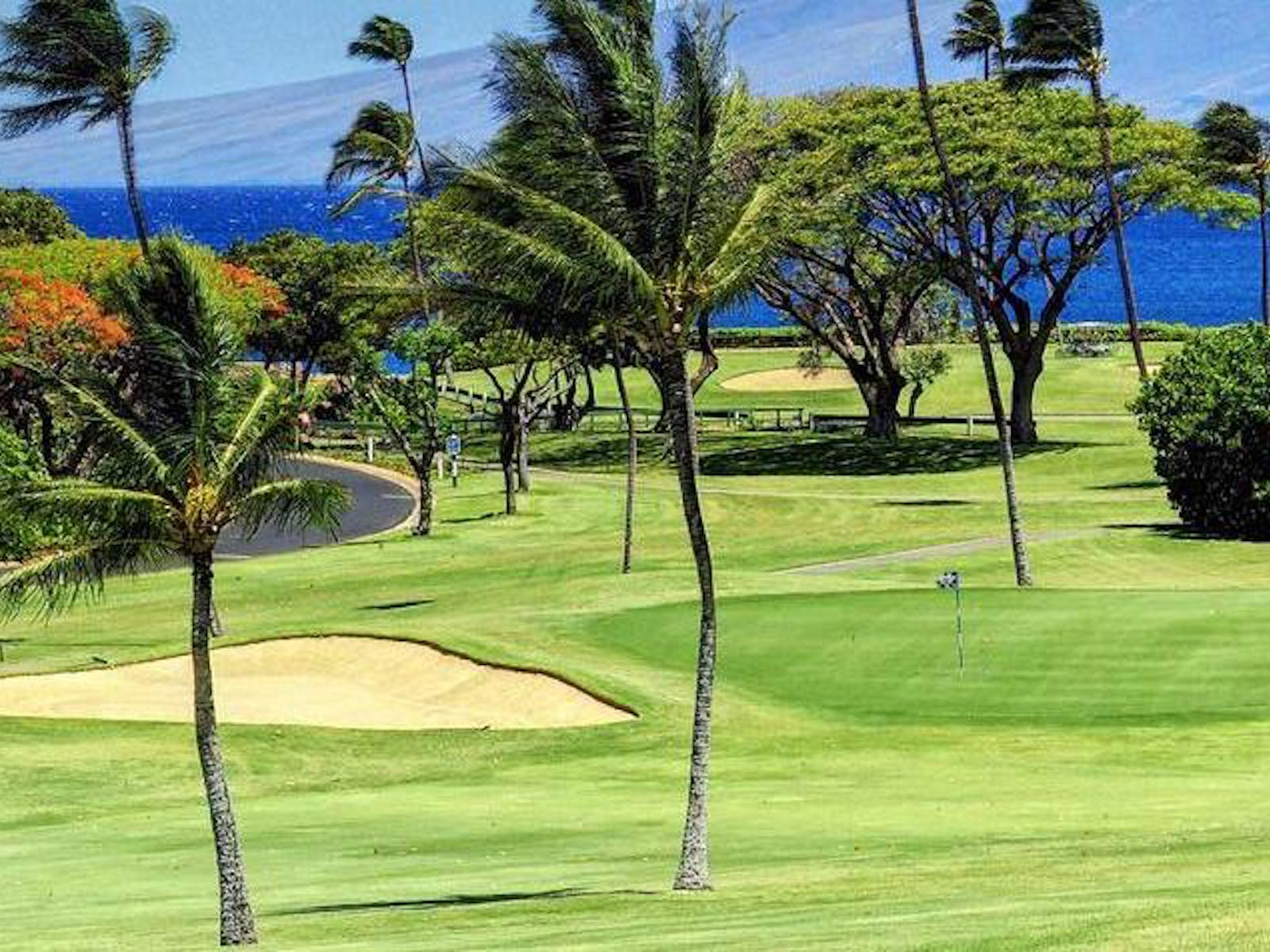 Golf course in Maui, HI
