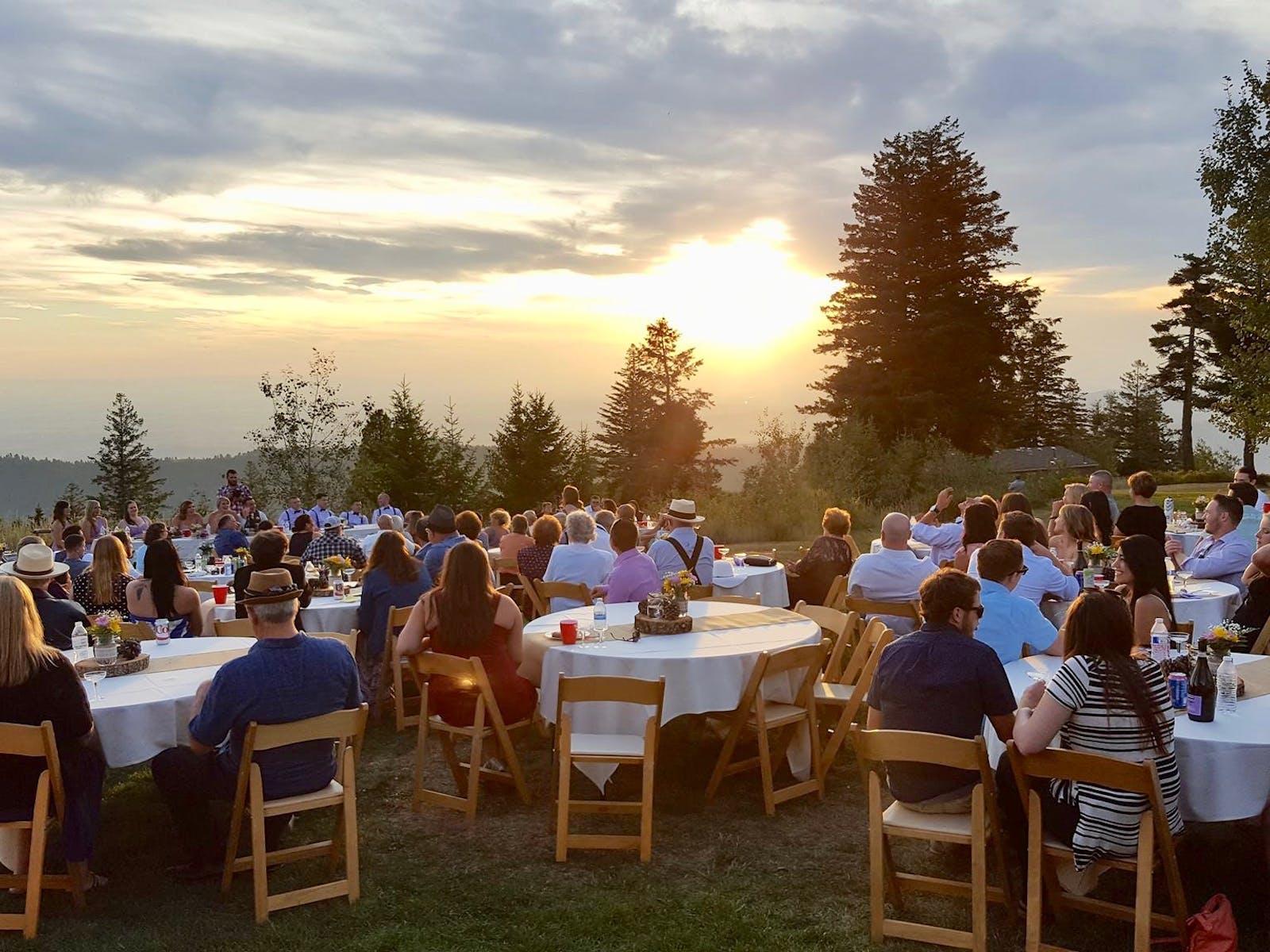 Outdoor wedding at Bogus Basin