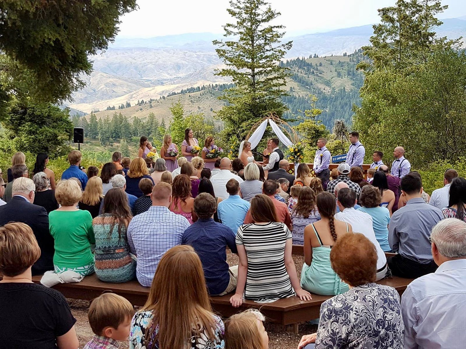 Wedding ceremony held at Bogus Basin